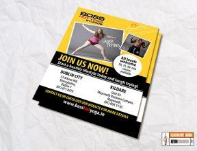 Boss Yoga Studios Flyer – Join us