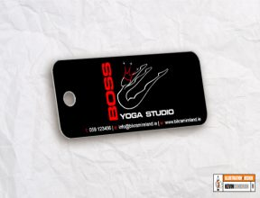Boss Yoga Studios Fob Key card