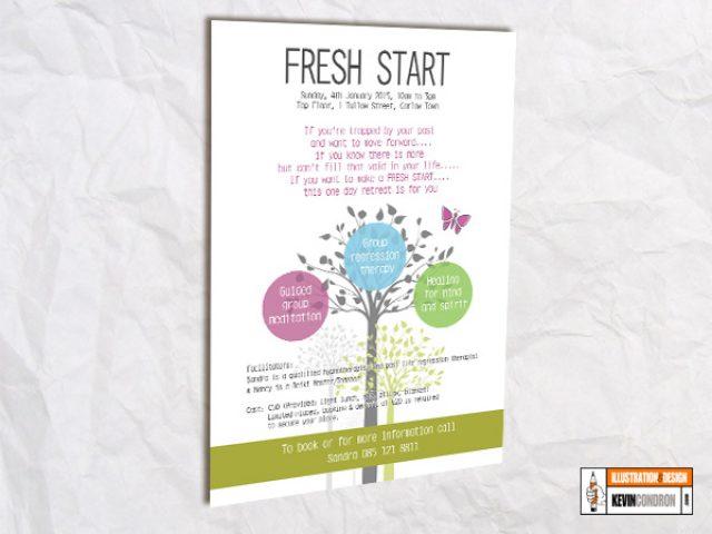 Fresh Start A4 poster