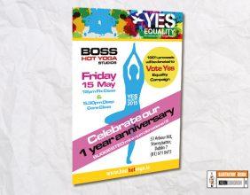 Boss Yoga Studios Poster