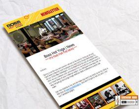 Boss Yoga digital newsletter