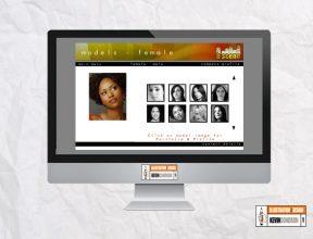 bScene modelling agency website